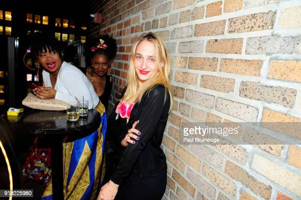 Jemima Kirke attends The Cinema Society with Ravage Wines Synchrony host the after party for Marvel Studios' 'Black Panther' at The Skylark on...