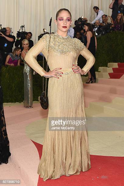 Jemima Kirke attends the 'Manus x Machina Fashion In An Age Of Technology' Costume Institute Gala at Metropolitan Museum of Art on May 2 2016 in New...