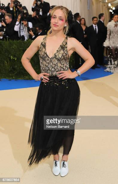 Jemima Kirke attends the 'Rei Kawakubo/Comme des Garcons Art Of The InBetween' Costume Institute Gala at Metropolitan Museum of Art on May 1 2017 in...