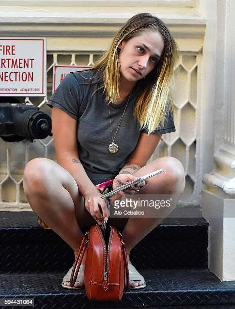 Jemima Kirke is seen in Soho on August 23 2016 in New York City