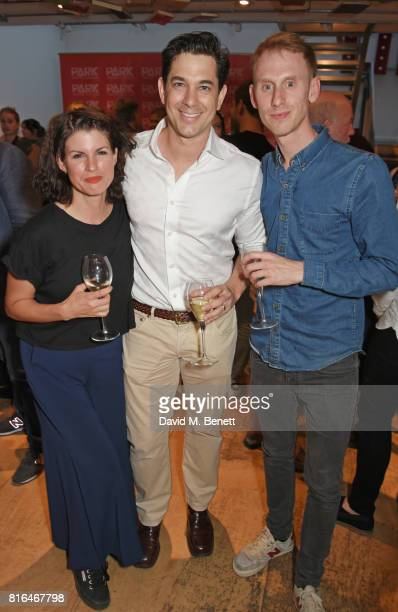 Jemima Rooper Adam Garcia and Robert Emms attend the press night party for 'Twilight Song' at The Park Theatre on July 17 2017 in London England