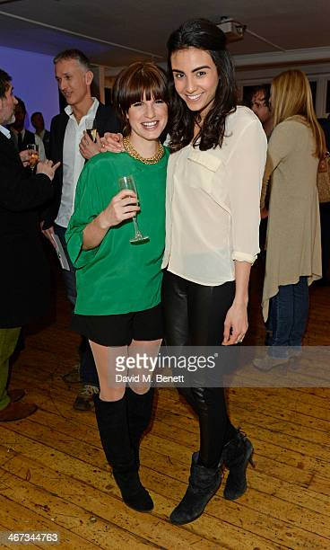 Jemima Rooper and Aiysha Hart attend the Murray Parish Trust inaugural art auction at The Gallery Soho on February 6 2014 in London England