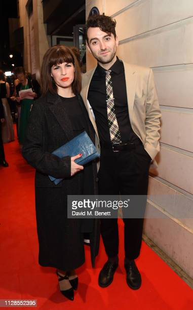 Jemima Rooper and Marc Antolin attend The WhatsOnStage Awards 2019 at The Prince of Wales Theatre on March 3 2019 in London England