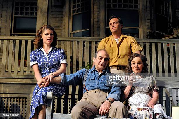 Jemima Rooper as Ann Deever David Suchet as Joe Keller Stephen Campbell Moore as Chris Keller and Zoe Wanamaker as Kate Keller in the production of...