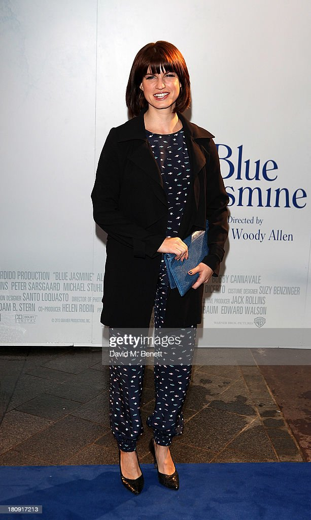 Jemima Rooper attends the UK premiere of 'Blue Jasmine' at Odeon West End on September 17, 2013 in London, England.