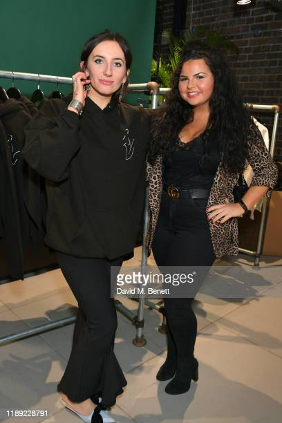 Jemima Sara and Georgia Hair attend the launch of Femme by Daisy Lowe x Jemima Sara at Wolf Badger on November 21 2019 in London England