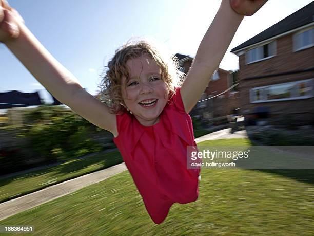 Jemima trying flying...