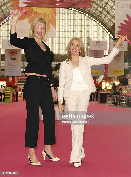 Jemma Kidd and Gillian McKeith during The Vitality Show 2007 at Olympia in London Great Britain
