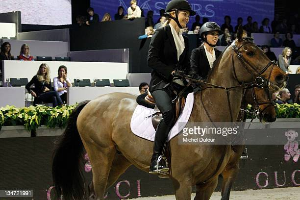 Jemma Kidd and Hannah Selleck riding at the International Gucci Masters Competition Day 2 on December 3 2011 in Villepinte France