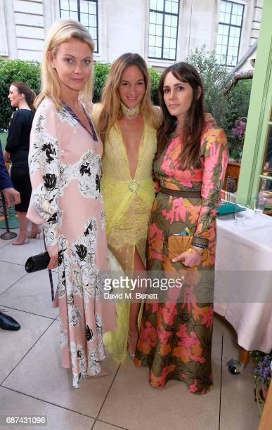 Jemma Kidd Kimi Hammerstroem and guest attend the Leuser Ecosystem Action Fund hosted by Ben Goldsmith and Sarah Woodhead at 5 Hertford Street in...