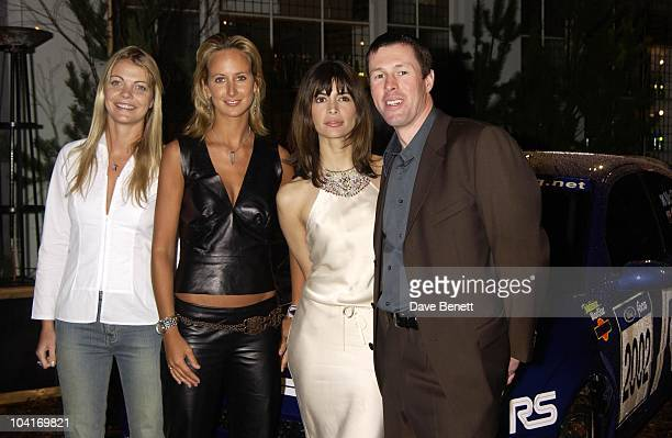 Jemma Kidd Lady Victoria Hervey Lisa B Colin Mcrae Ford Rallye Sport Celebrates The Start Of The World Rally Chapionship 2002 At The Bluebird...