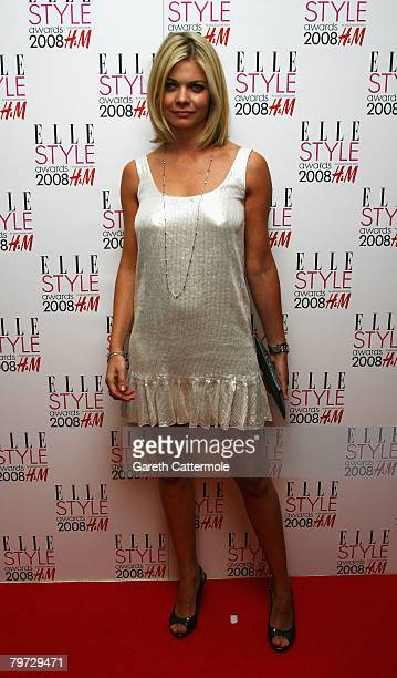 Jemma Kidd poses in the press room at the Elle Style Awards 2008 at The Westway on February 12 2008 in London England