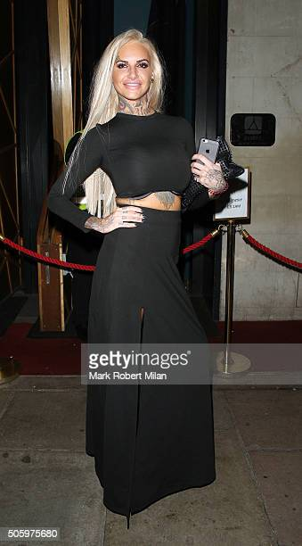 Jemma Lucy at Dstrkt nightclub on January 20 2016 in London England