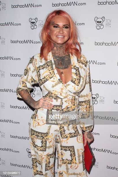 Jemma Lucy attends the Love Island Welcome Home Party at Toy Room Club on August 8 2018 in London England