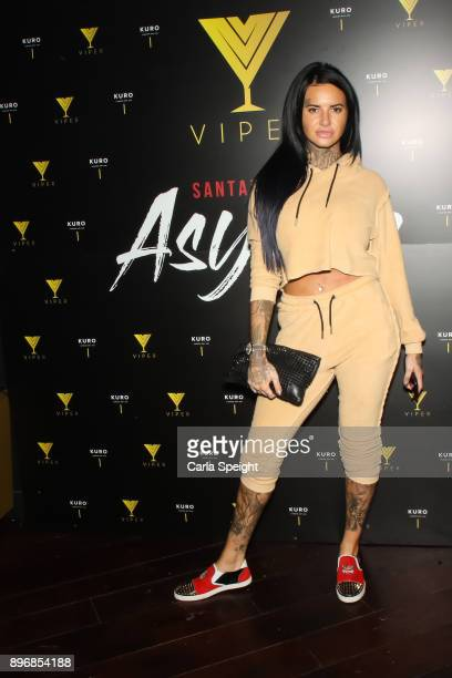 Jemma Lucy attends 'Vipers First Christmas' event at Impossible on December 21 2017 in Manchester England