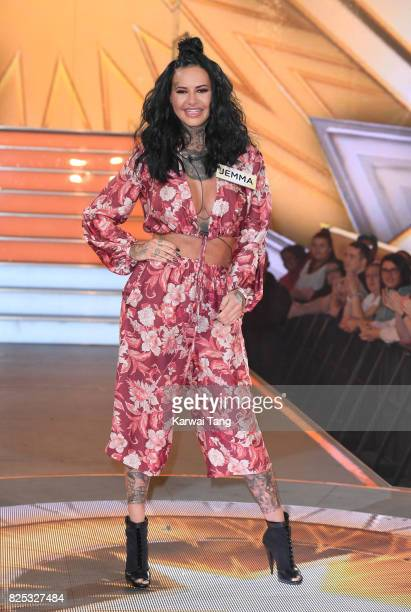 Jemma Lucy enters the Big Brother House for the Celebrity Big Brother launch at Elstree Studios on August 1 2017 in Borehamwood England
