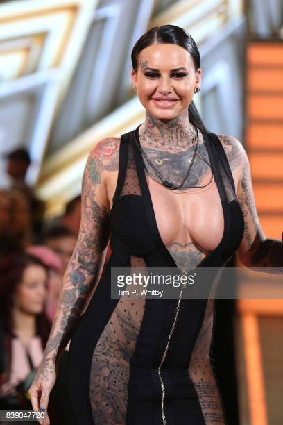 Jemma Lucy leaves the house after being evicted during the Celebrity Big Brother Final at Elstree Studios on August 25 2017 in Borehamwood England