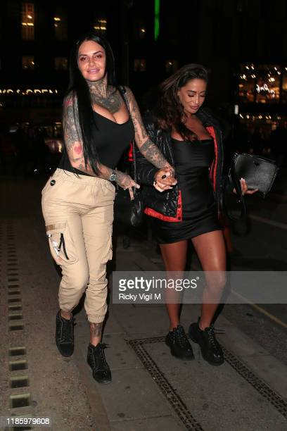 Jemma Lucy seen attending the launch party for Anna Vakili x PrimaLash at Libertine club on November 06 2019 in London England