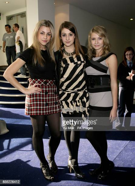 Jemma McKenzie-Brown and Georgia Groome and Eliza Bennett at the First Light Movie Awards 2009 at the Odeon Leicester Square, London.