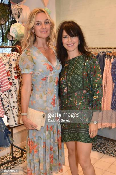 Jemma Powell and Imelda May attend a private view of 'Moments' by artist Jemma Powell hosted by Anthropologie King's Road on June 28 2018 in London...