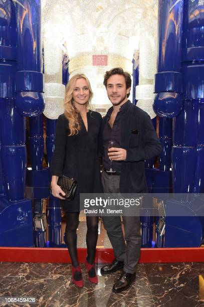 Jemma Powell and Jack Savoretti attend Four Seasons Hotel London at Park Lane unveil its Holiday installation The Nutty Prince designed by Ammar...