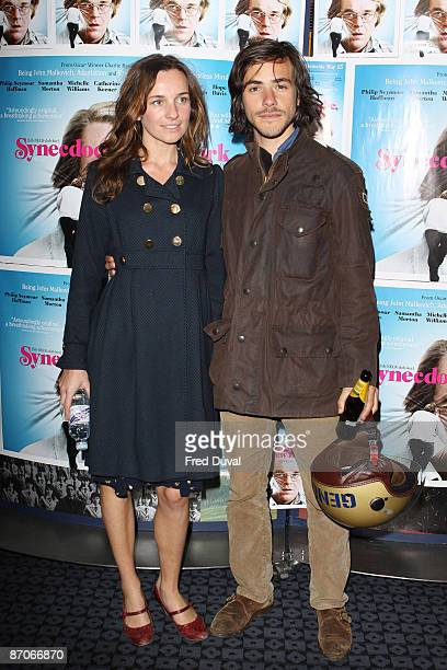 Jemma Powell and Jack Savoretti attend the UK Premiere of 'Synecdoche New York' at Curzon Soho on May 11 2009 in London England