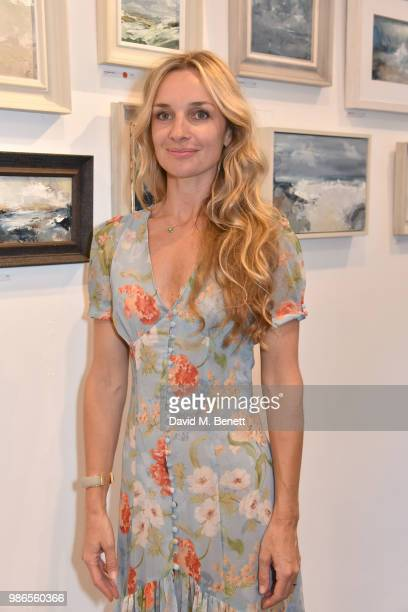 Jemma Powell attends a private view of 'Moments' by artist Jemma Powell hosted by Anthropologie King's Road on June 28 2018 in London England