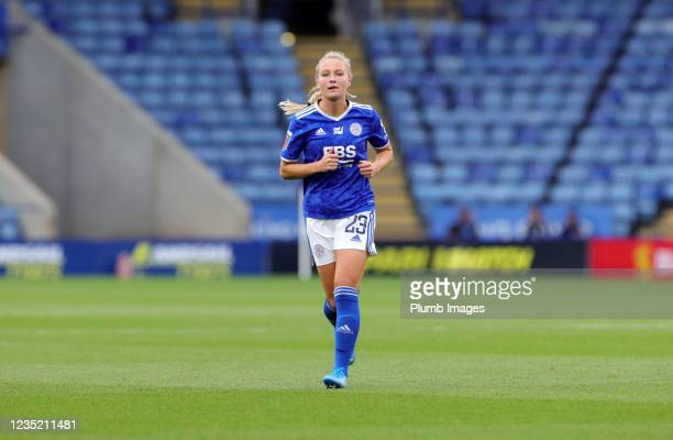 Jemma Purfield of Leicester City Women during the Barclays FA Women's Super League match between Leicester City Women and Manchester United Women at...