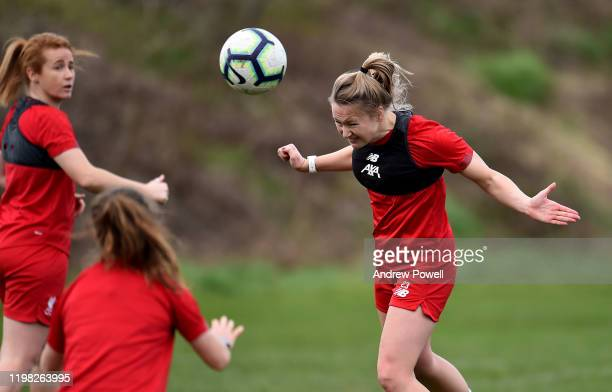 Jemma Purfield of Liverpool Women during a training session at Solar Campus on January 08 2020 in Wallasey England
