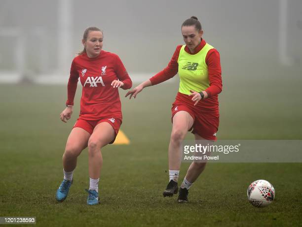 Jemma Purfield of Liverpool Women during a training session at Solar Campus on January 22 2020 in Wallasey England