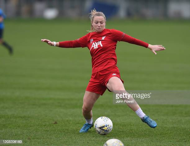 Jemma Purfield of Liverpool Women during a training session at Solar Campus on January 31 2020 in Wallasey England