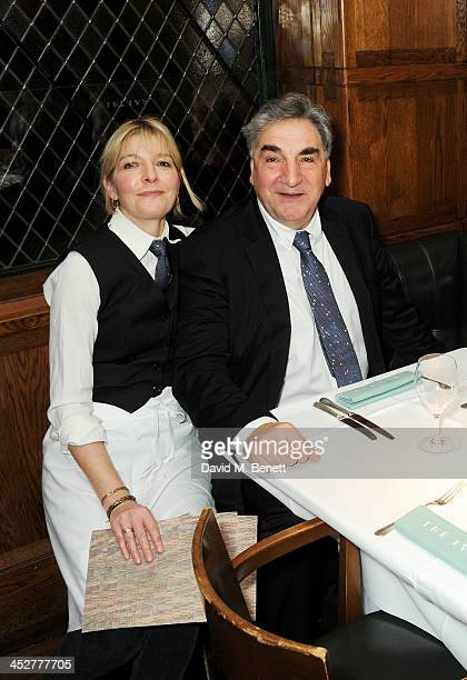 Jemma Redgrave and Jim Carter attend One Night Only at The Ivy in aid of Acting For Others supported by Tanqueray No TEN at The Ivy on December 1...