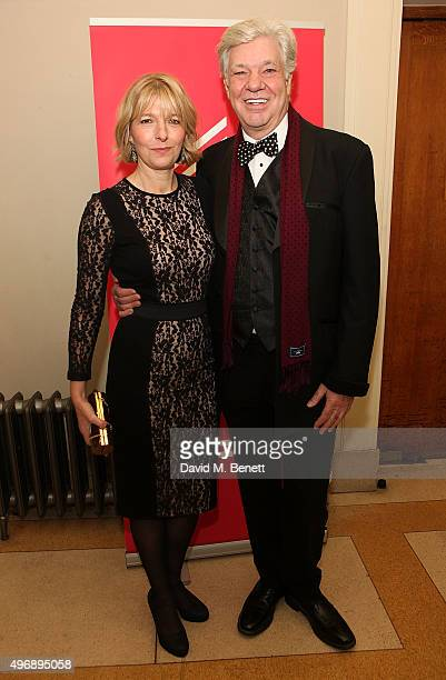 Jemma Redgrave and Matthew Kelly attend the Park Theatre Gala 2015 at Stoke Newington Town Hall on November 12 2015 in London England