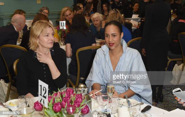 Jemma Redgrave and Zawe Ashton attend Theirworld #RewritingTheCode International Women's Day Breakfast 2017 at The Institute of Directors on March 7...