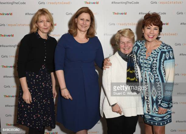 Jemma Redgrave Sarah Brown Sandi Toksvig and Kathy Lette attend Theirworld #RewritingTheCode International Women's Day Breakfast 2017 at The...