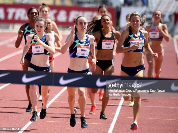 Jemma Reekie of Great Britain wins the 800 Meter Run with a time of 1:58.27 as Laura Muir of Great Britain finished second with a time of 1:58.46...