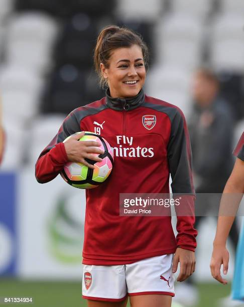 Jemma Rose of Arsenal before the match between Arsenal Women and Everton Ladies at Meadow Park on August 31 2017 in Borehamwood England