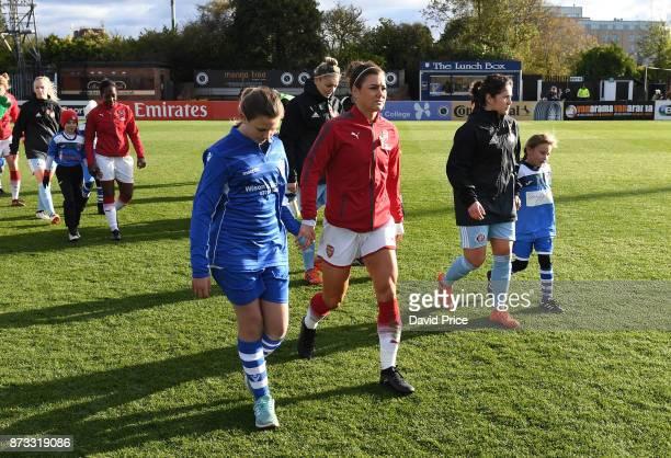 Jemma Rose of Arsenal before the WSL match between Arsenal Women and Sunderland on November 12 2017 in Borehamwood United Kingdom