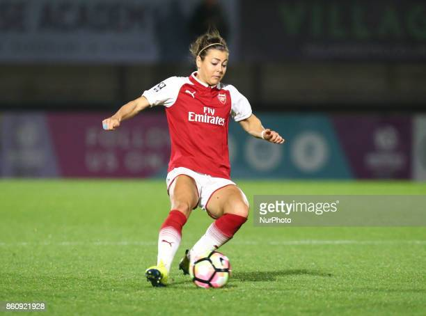 Jemma Rose of Arsenal during The FA WSL Continental Tyres Cup match between Arsenal against London Bees at Meadow Park Borehamwood FC on 12 Oct 2017