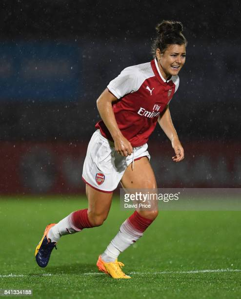 Jemma Rose of Arsenal during the match between Arsenal Women and Everton Ladies at Meadow Park on August 31 2017 in Borehamwood England