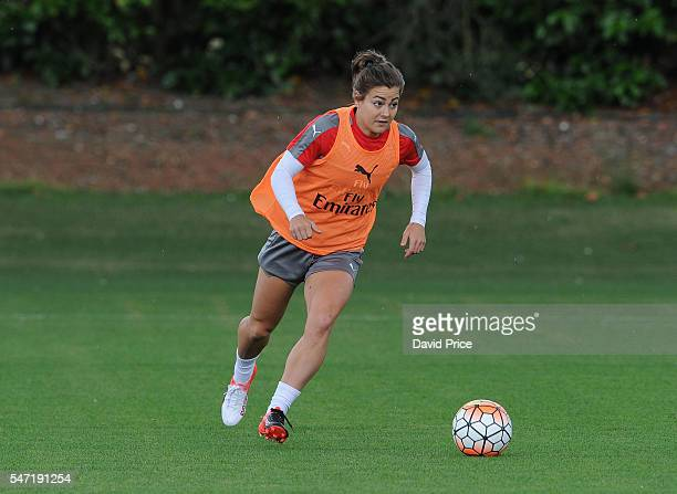 Jemma Rose of Arsenal Ladies during their training session on July 13 2016 in London Colney England