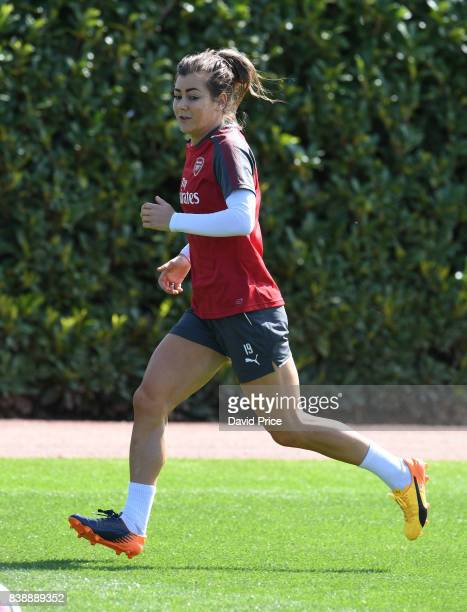 Jemma Rose of Arsenal Women during an Arsenal Women Training Session at London Colney on August 25 2017 in St Albans England