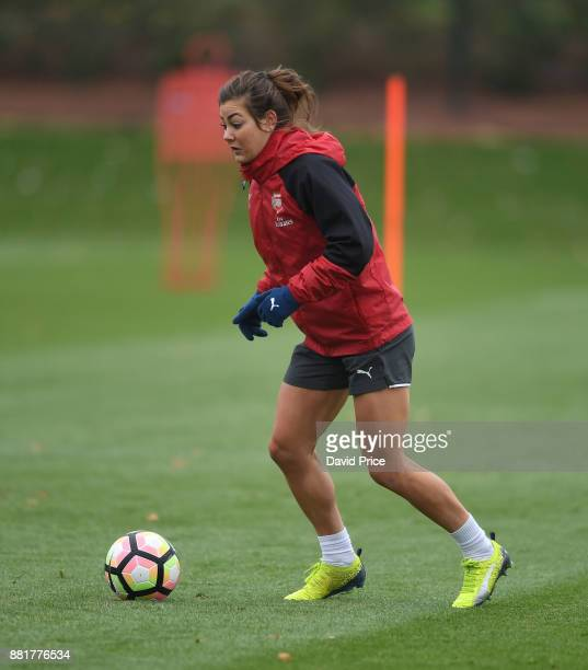 Jemma Rose of Arsenal Women during the Arsenal Womens Training Session at London Colney on November 29 2017 in St Albans England