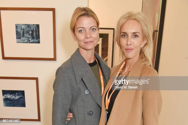 Jemma Wellesley Marchioness of Douro and Sarah Woodhead attend the Frieze Art Fair 2017 VIP Preview in Regent's Park on October 4 2017 in London...