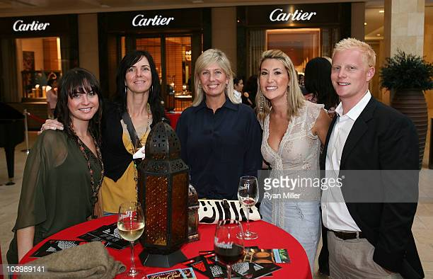 Jemma Wildermuth Amber Thayer Jennifer Vogelbach Jonnelle Walker and Brett Tattersall pose during Fashion's Night Out at the Westfield Topanga Mall...