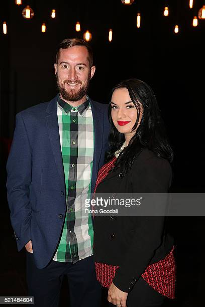 Jen and Pete Bainbridge attend a screening of Eddie the Eagle at Hoyts Sylvia Park on April 16 2016 in Auckland New Zealand