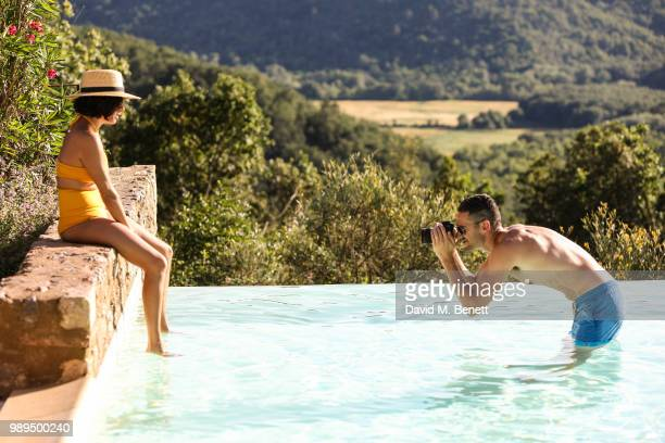 Jen Atkin and Mike Rosenthal attend Rosetta Getty's third annual Tuscany weekend at Villa Pipistrelli on July 01 2018 in Sovicille Italy