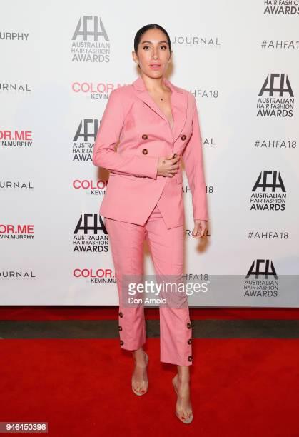 Jen Atkin attends the 2018 Australian Hair Fashion Awards at Luna Park on April 15 2018 in Sydney Australia