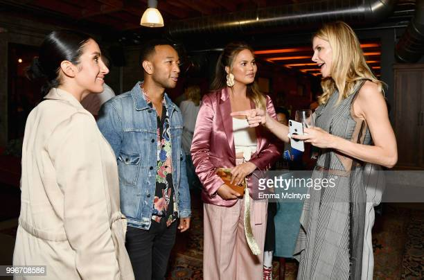 Jen Atkin John Legend Chrissy Teigen and Finery CoFounder Whitney Casey attend the Finery App launch party hosted by Brooklyn Decker at Microsoft...