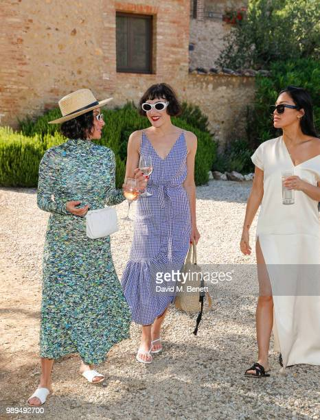 Jen Atkin Mia Moretti and Stephanie Shepherd attend Rosetta Getty's third annual Tuscany weekend at Villa Pipistrelli on July 01 2018 in Sovicille...